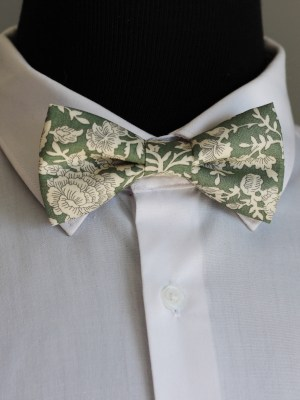 Moss Green Vintage Floral Bow Tie Cape Town South Africa
