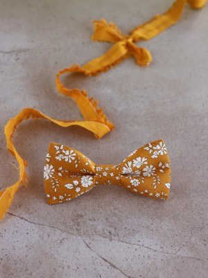 Mustard Yellow Liberty Bow Tie