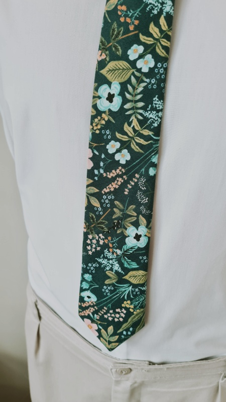 Winter Garden dark florals tie Rifle Paper Co fabric made in New Zealand by Stitched