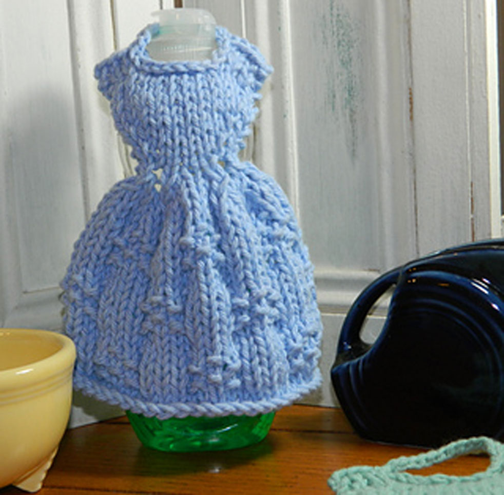 knit dress dishcloth
