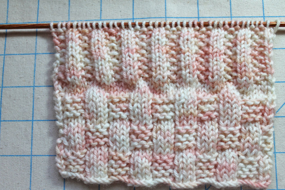 Knitting stitch swatch