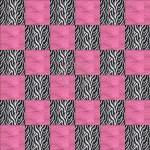 Pieced Top of Zebra Hot Pink Minky