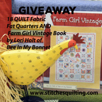 Farm Girl Vintage Book Fabric Giveaway