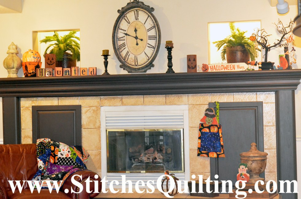 Then there is our fireplace mantles, this year I decided to go a bit smaller and simpler. Well my boys and great nieces decorated the house this year. They love when I say to get the orange and black bins from the garage and I love to see where they put everything! That is some kid fun isn't?
