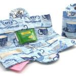 A handy travel tea wallet bistro