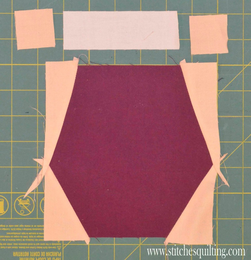 Womans Bottom and Waist Swimming Suit Quilt Block