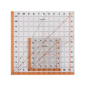 Fiskars Square Ruler 12 and 6 Inch N013-187210-1001