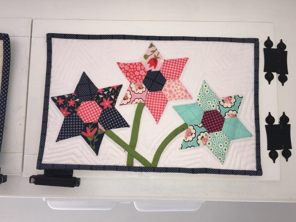 Posy Garden Flower Mini Quilt Carina Gardner with Riley Blake Designs