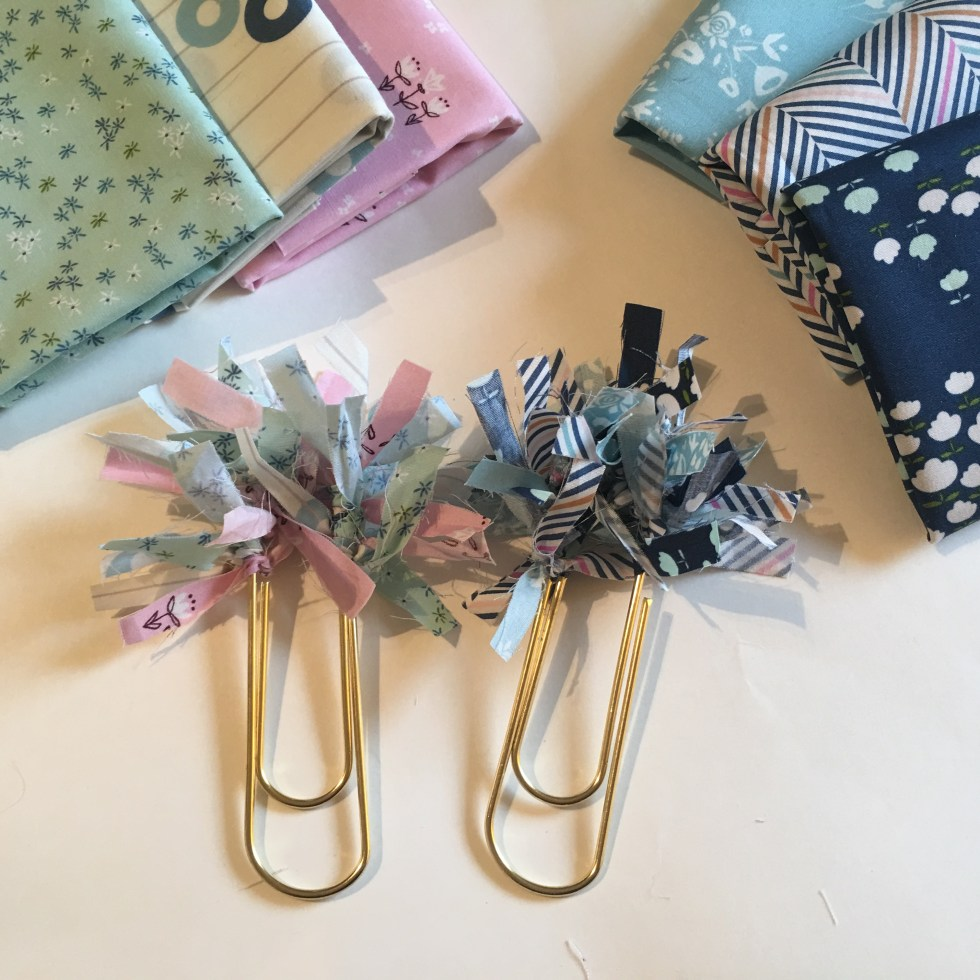 fabric Paperclip Bookmark Quilters Planner