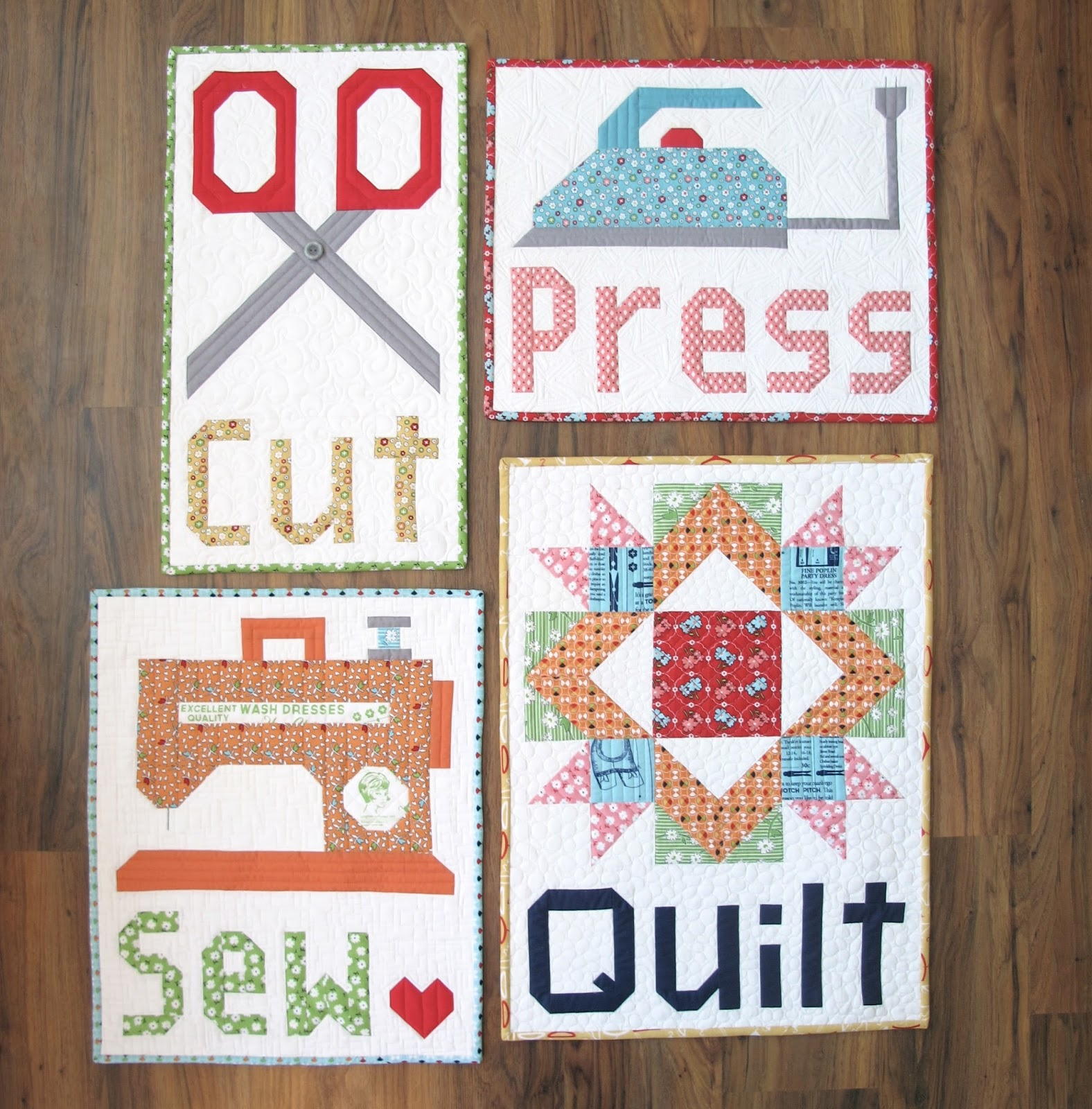 Bee In My Bonnet Cut Press Sew Quilt Pattern By Lori Holt
