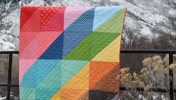 Four Square in a Nine Patch Modern Quilt Block • Stitches Quilting