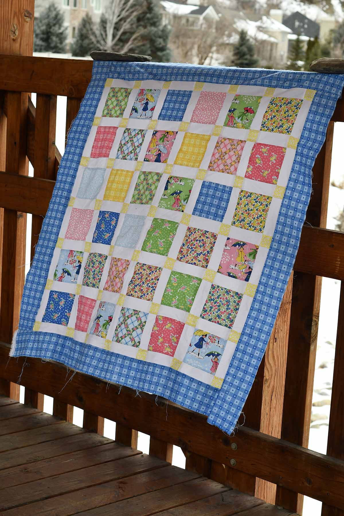 Mae Flowers Baby Quilt Kit Stitches Quilting