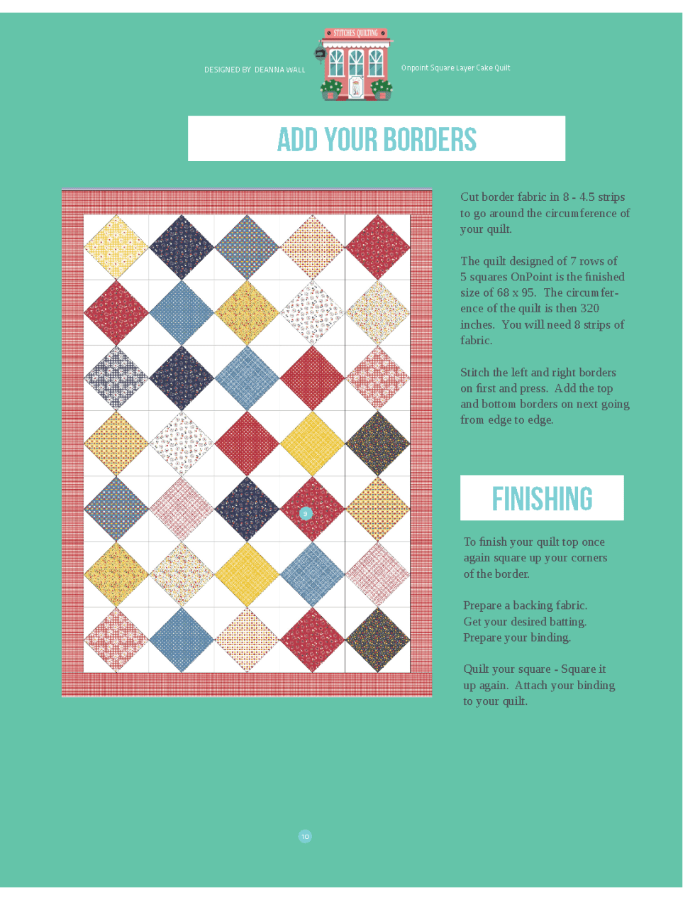Onpoint Square Layer Cake Quilt Tutorial Free Pattern