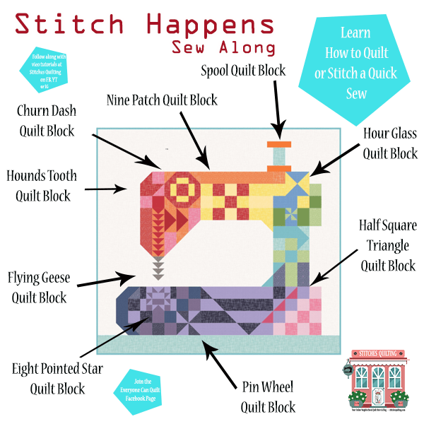 Stitch Happens Sew Along Come Quilt With Us Stitches