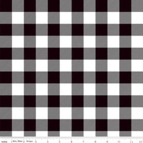 Lumberjack Black Plaid Fabric C7511 Classic designed by Simple Simon for Riley Blake Designs