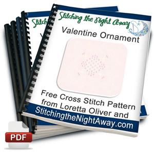 valentine ornament free cross stitch pattern