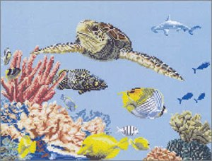 sea turtle cross stitch pattern