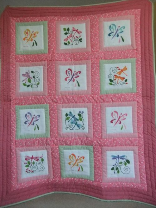Butterfly Dragonfly Quilt for Love Quilts UK
