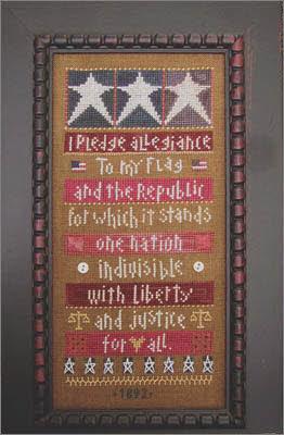 Pledge Allegiance Cross Stitch
