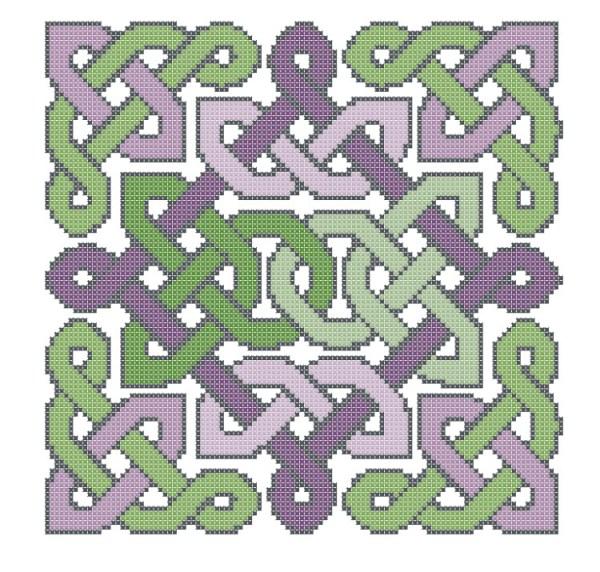 knotwork garden free cross stitch pattern (preview of design)