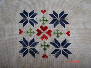 Ornament Club Ornament #5 as stitched by Laurel