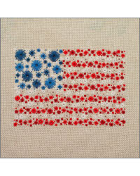 Starburst Stars and Stripes Cross Stitch