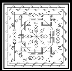 Tangled Blackwork Pattern