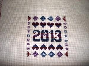 March Ornament Club Design stitched by Laurel