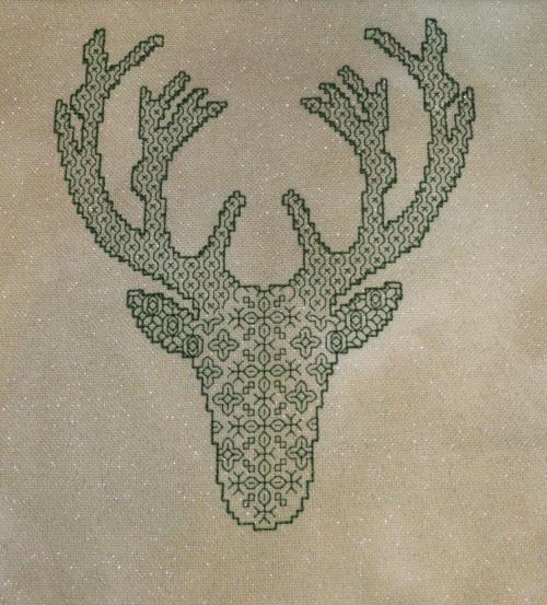blackwork-deer-silhouette