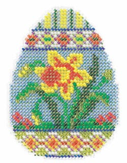 Mill Hill Spring Egg Daffodil cross stitch kit
