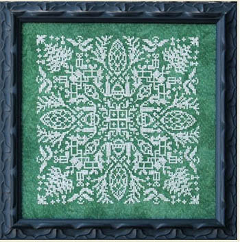 holly jolly mandala ink circles cross stitch pattern