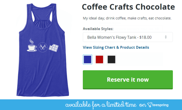 coffee, crafts, chocolate shirt design
