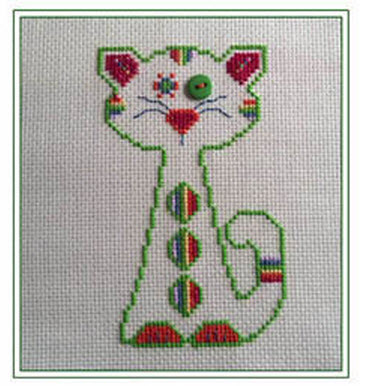 rainbow whiskerkins cross stitch pattern from CM Designs