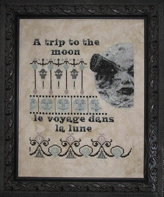 A Trip to the Moon cross stitch pattern from Ship's Manor