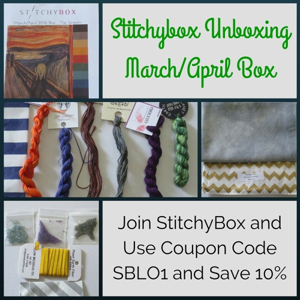 stitchybox unboxing of march april box halloween cross stitch supplies