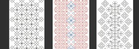 blackwork bookmark cross stitch pattern preview