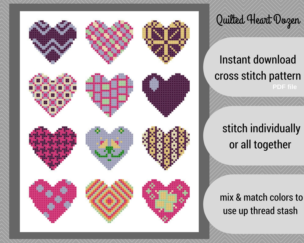 Quilted Heart Dozen
