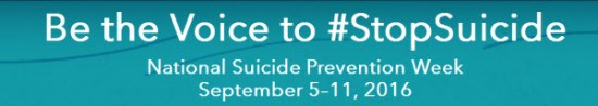 Be the Voice to Stop Suicide #stopsuicide