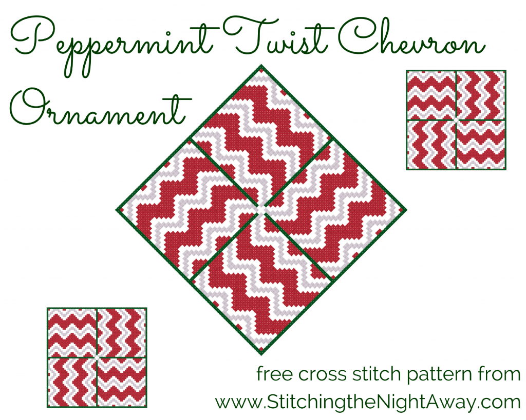 Peppermint Twist Free Cross Stitch Ornament Pattern