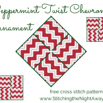 Peppermint Twist Chevron Ornament