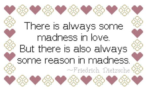 preview of the pattern for madness in love quote