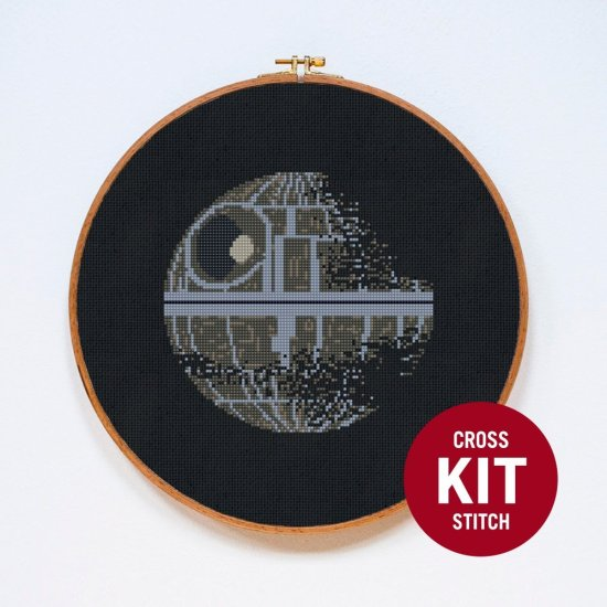 Star Wars Death Star Cross Stitch Kit available from Stitchering