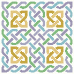 Feeling Knotty Celtic Knotwork Pattern with beige background