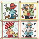 sunbonnet sues and hes lesley teare cross stitch sal project
