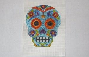 Finished Stitching Mill Hill Azul Calavera