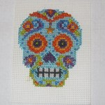 Finished Stitching Mill Hill Azul Calavera