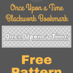 Once Upon a Time Free Blackwork Bookmark Pattern