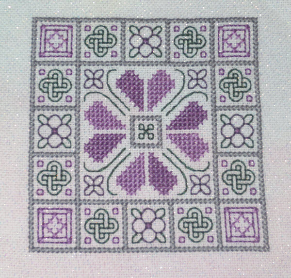 Knots & Blocks Quilt-Inspired Ornament (or biscornu)