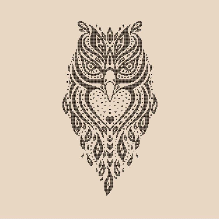 Spirit Owl Limited Release Cross Stitch Pattern