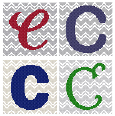 Chevron Monogram Pattern Set C